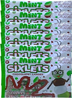 NEW Mint Sixlets Chocolatey Candies Gluten Free Candies Net Wt 4Oz (6)