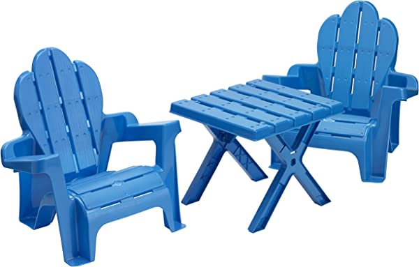 American Plastic Toys Adirondack Table And Chairs