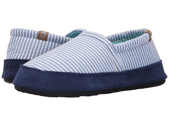 Acorn   Moc Summerweight (Blue Stripe) Womens Slippers