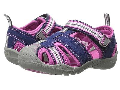 pediped Sahara Flex (Toddler/Little Kid) (Navy/Pink) Girl