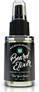 Wild Willies Cool Mint Beard Oil for Men - Made with 10 Natural Conditioner Ingredients and Organic Essential Oils to Provide Superior Performance, Promote Fast Growth & Restore Moisture. 2 oz.