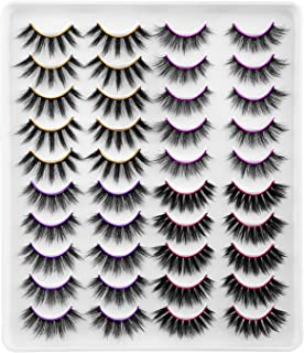 Newcally False Eyelashes 4 Styles 20 Pairs Long Dramatic Faux Mink Lashes Value Pack