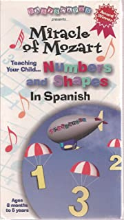 Babyscapes Presents: Miracle of Mozart Teaching Your Child Numbers and Shapes in SPANISH VHS Tape (Ages 8 Months to 5 Years)