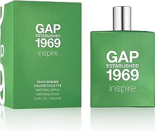GAP Established 1969 Inspire Man/Homme Eau de Toilette Spray, 3.4 Fluid Ounce