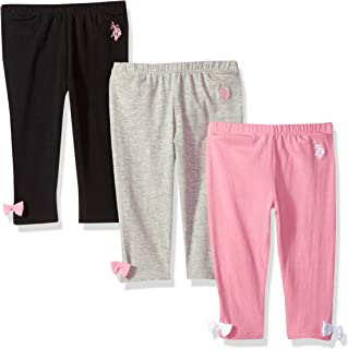 U.S. Polo Assn. Baby Girls' 3 Pack Jesey Spandex Legging