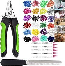 200PCS Juego de Tapas para Uñas de Gato, Cubiertas Profesionales Cuidadas a Garras para Mascotas, con Pegamentos Adhesivos, Tijeras con Dispositivo de Protección, Lima de Uñas y Aplicadores