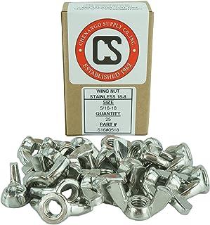 5//16-18 Stamped Wing Nuts Steel Zinc 100 Pack