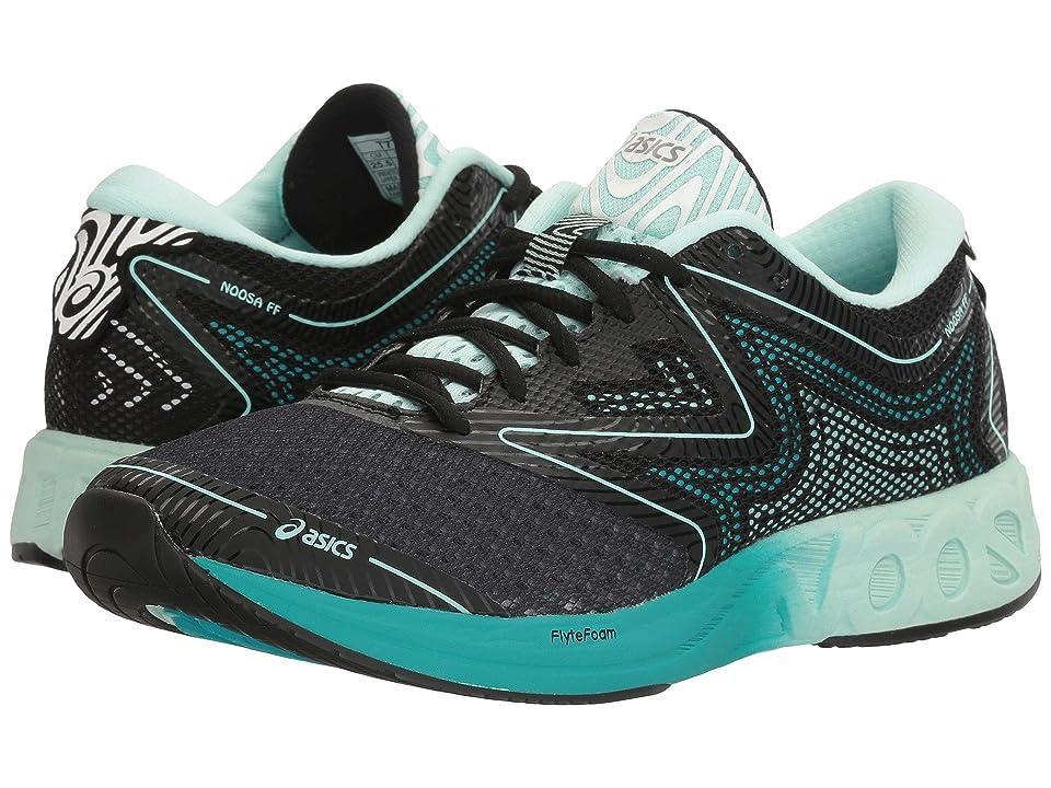 the latest 768c1 ed40f ASICS Noosa FF (Black Bay Viridian Green) Women s Running Shoes