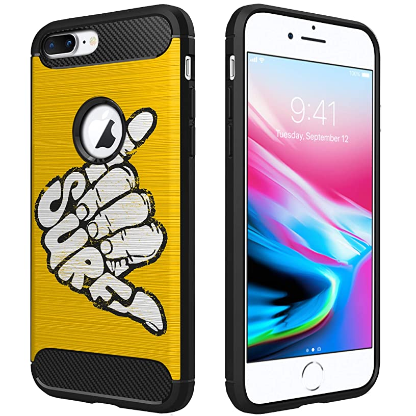 OmyBloom Light Flex Case Compatible for Apple iPhone 8 Plus/iPhone 7 Plus | Beach Vibes Design Phone Case for iPhone 7 Plus - Surf's Up
