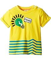 Fendi Kids - Short Sleeve Logo Light Bulb Graphic T-Shirt (Infant)