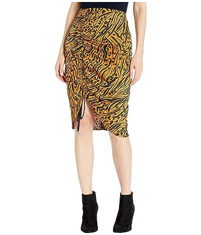 BCBGeneration Ruched Detail Woven Slip Skirt TOP3253801 (Bronze) Women