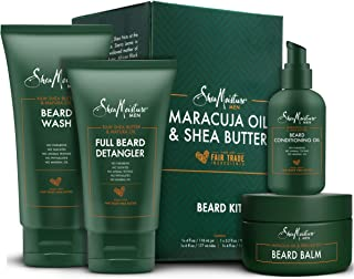 Shea Moisture Complete Beard Kit | All Natural Ingredients | Maracuja Oil & Shea Butter | Beard Balm | Beard Conditioning ...