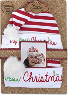 Baby Holiday Socks and Hats or Headbands with Bows for Christmas, Age 0-6 Months – 2 Piece Sets