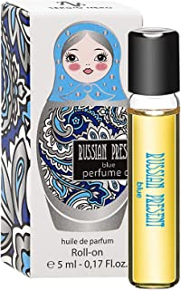 Russian Present Aceite de perfume para mujer 5 ml roll-on miniatura - Perfume como maquillaje (BLUE)