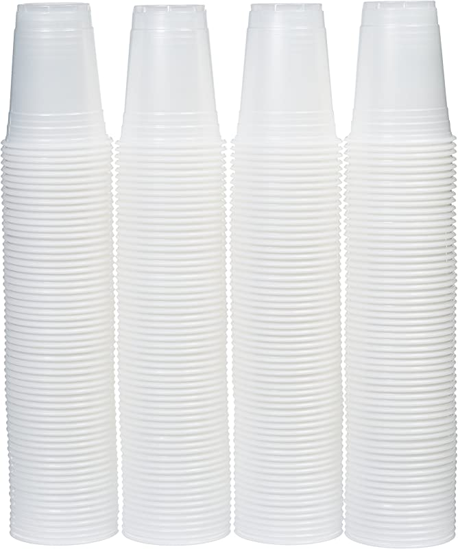 AmazonBasics 16 Ounce Disposable Plastic Cups 240 Pack Clear Translucent