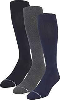 3 Pairs Pack Men's Dr Motion Graduated Compression Therapeutic Socks 8-15 mmHg 10-13 (1Black-1Navy-1Grey)