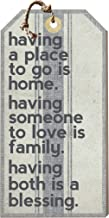 Kindred Hearts Small Hanging Tag Having a Place to Go is Home, Multicolor