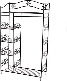 Portemanteau/garderobe/étagère/penderie/patère Genève, 100x43x172cm, métal