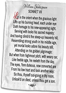 3dRose Alexis Design Sonnet 7 T-Shirts Lo in The Orient When The Gracious Light Poetry Shakespeare Sonnets
