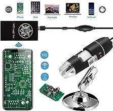 Jiusion WiFi USB Digital Handheld Microscope, 40 to 1000x Wireless Magnification..