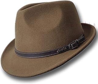 Oztrala】 Trilby Felt Hat Australian Wool Leather Band Fedora Fur Men/Women Bucket HW03 A