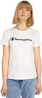 Champion Crewneck T-Shirt for Women - White L (110846ES001)