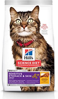 Hill's Science Diet Adult Sensitive Stomach & Skin Chicken & Rice Recipe Dry Cat Food 3.17kg Bag