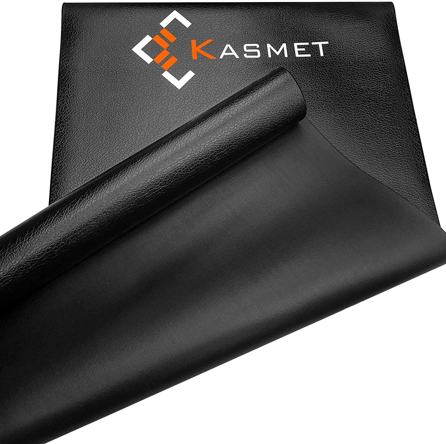 KASMET Home Gym Equipment Non-Slip Mat for Exercise Bike, Treadmill, Weight Bench, Rowing Machine, Indoor Cycling, Heavy Duty PVC Floor Protection Mats-Yoga, Pilates