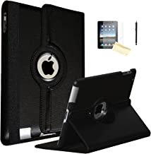 iPad Air 2 Case, JYtrend (R) Rotating Stand Smart Case Cover Magnetic Auto Wake Up/Sleep for iPad Air 2 A1566 A1567 MGLW2LL/A MH0W2LL/A MGL12LL/A MH2V2LL/A MH2W2LL/A MH2U2LL/A (Black)