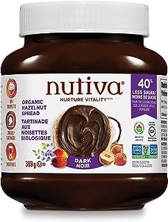 Nutiva Organic Vegan Hazelnut Spread, Dark, 369 Gram| Non-GMO, Fair Trade & Sustainably Sourced | Vegan & Gluten-Free | Pl...