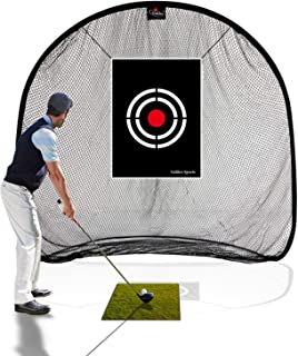 GALILEO Golf Net Golf Hitting Nets for Backyard Driving Indoor Use Practice Portable Driving Range Indoor Golf Net Training Aids with Target and Carry Bag
