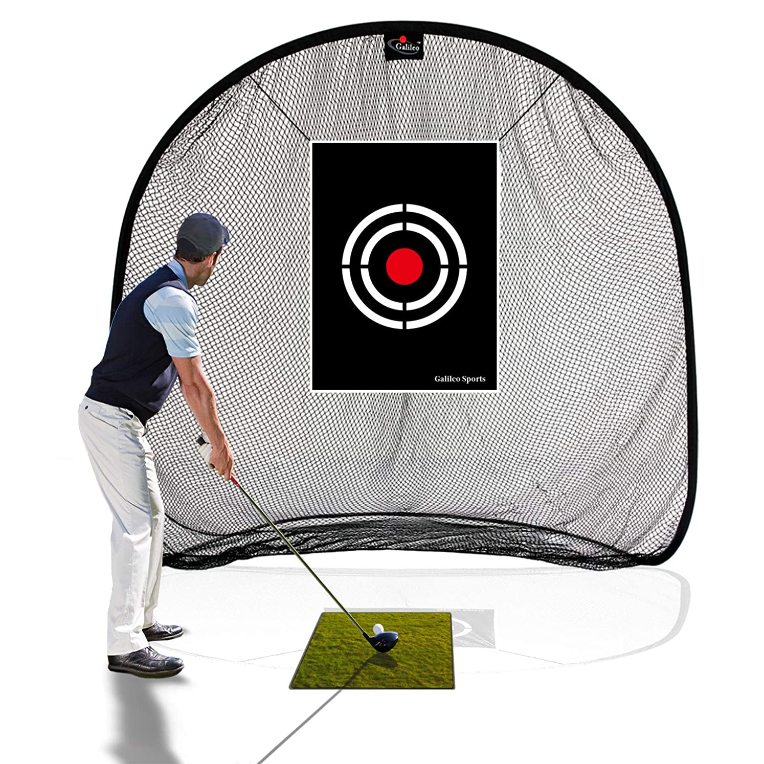 Galileo Golf Net Golf Hitting Nets for Backyard Practice Portable Driving Range Golf Cage Indoor Golf Net Training Aids with Target 7'x7'x4.5' ntrxrhpgv6882602