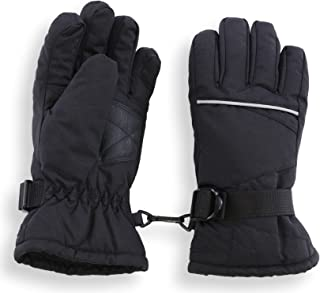 Kids Winter Gloves - Snow & Ski Waterproof Gloves for Boys, Girls, Toddler & Youth - Designed for Cold Weather Outdoor Play, Skiing & Snowboarding - Windproof Thermal Shell & Synthetic Leather Palm