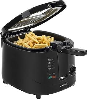 Bestron Friteuse, Pour 700 g de frites, 2,5 litres, 1800 W, Noir