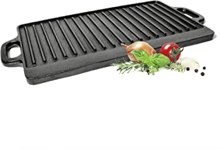 ToCis Big BBQ - Plancha para barbacoa, carne y pizza (hierro fundido), Reversible.