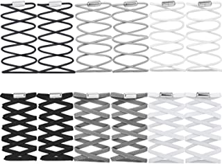 6 Pairs No Tie Elastic Shoelaces with Metal Turnbuckle and 6 Pairs Spare Elastic Shoelaces for Adult and Kids' Sneaker, 2 Styles, 3 Colors