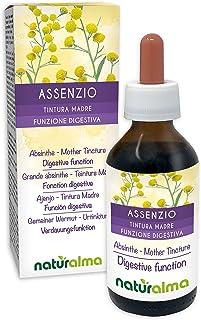GEMEINER WERMUT Artemisia absinthium Kraut mit Blüten Alkoholfreier Urtinktur NATURALMA | Flüssig-Extrakt Tropfen 100 ml | Nahrungsergänzungsmittel | Veganer