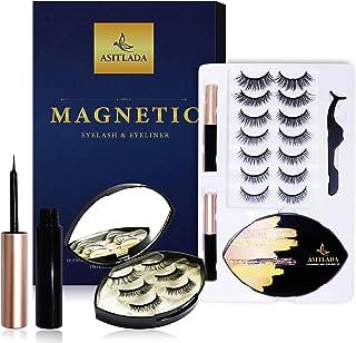 ASITLADA Magnetic Eyeliner and Magnetic Eyelashes kit-10 pairs Reusable Lashes- Eyelashes Magnetic-Best Eyelashes