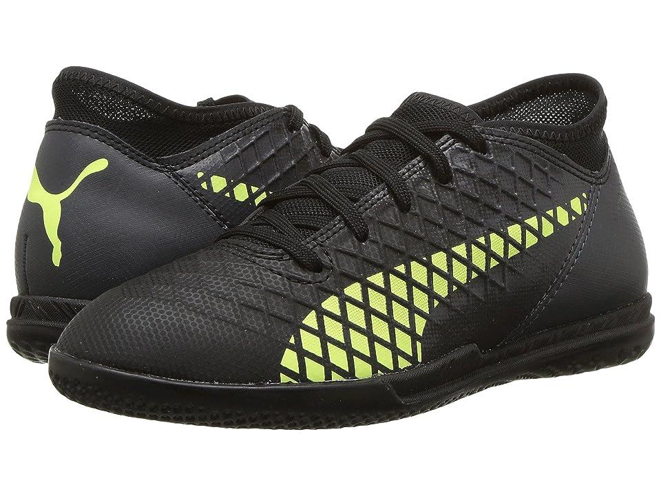 Puma Kids Future 18.4 IT Soccer (Little Kid/Big Kid) (Puma Black/Fizzy Yellow/Asphalt) Kids Shoes