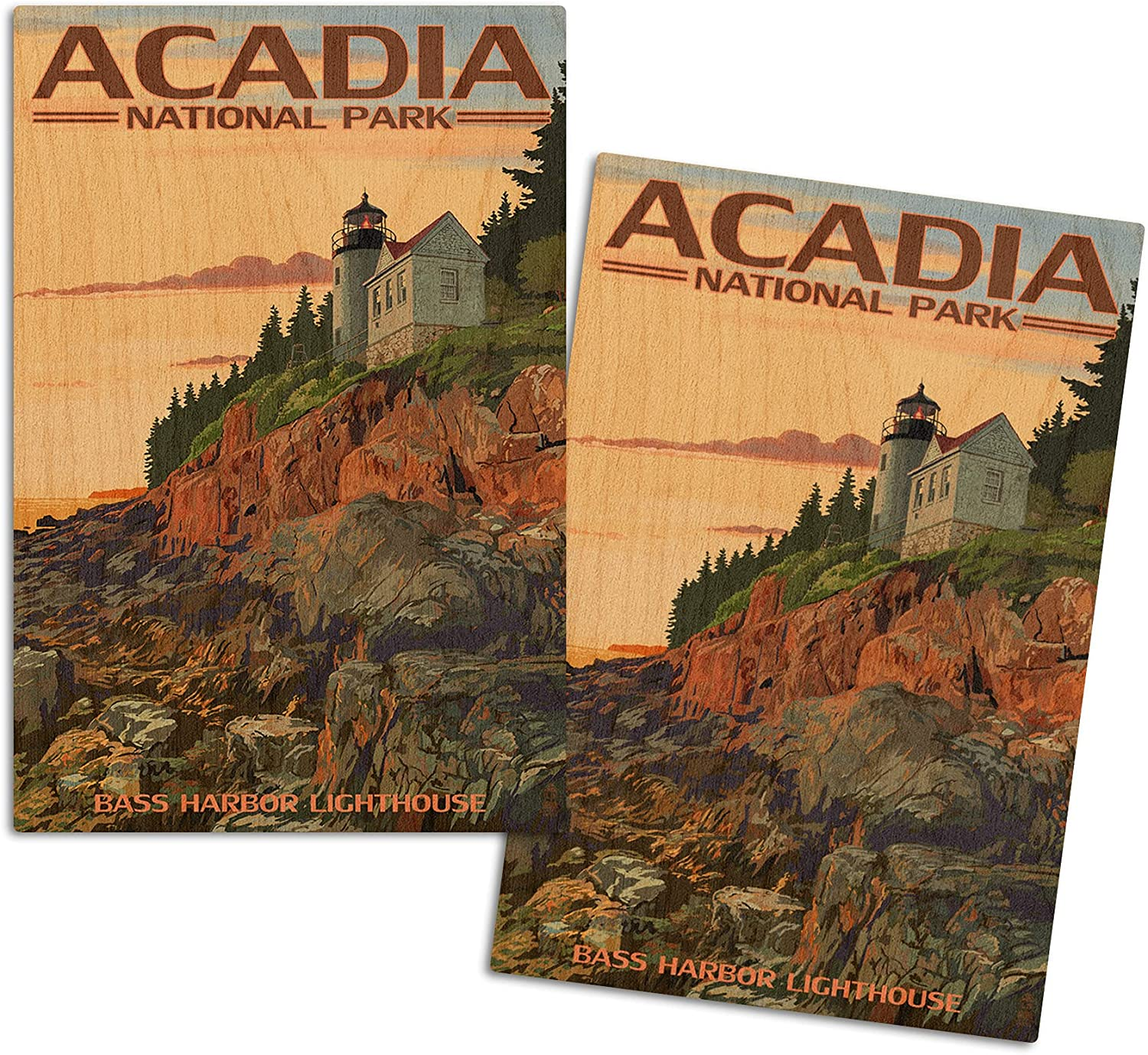Lantern Press Acadia National Park Harbor Maine Clearance SALE! Limited time! Bass Now free shipping Lighthous
