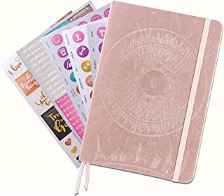 Law of Attraction Daily Planner - Deluxe Day Calendar and Gratitude Journal to Increase Productivity, Happiness & Time Management - Non Dated, A5 Rose Gold Hardcover + Bonus Stickers