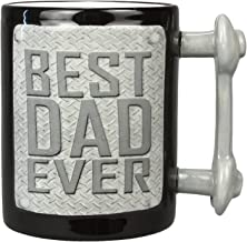 كوب مطبوع عليه Best Dad من السيراميك مقاس 4.75 بوصة × 3.5 بوصة × 5 بوصات من Young's Inc