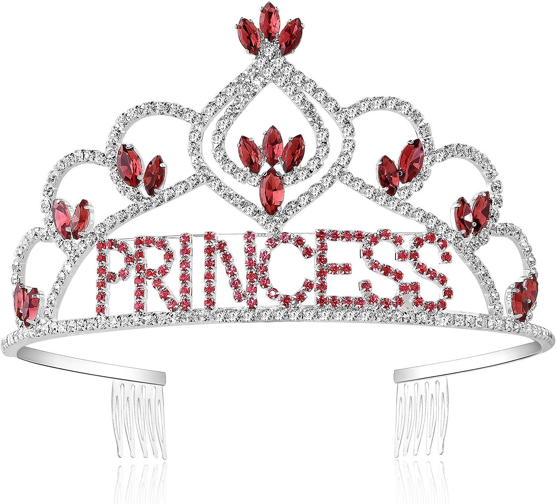 mart Coucoland Girls Princess Tiara Rhinestone Crown Seasonal Wrap Introduction Crystal He