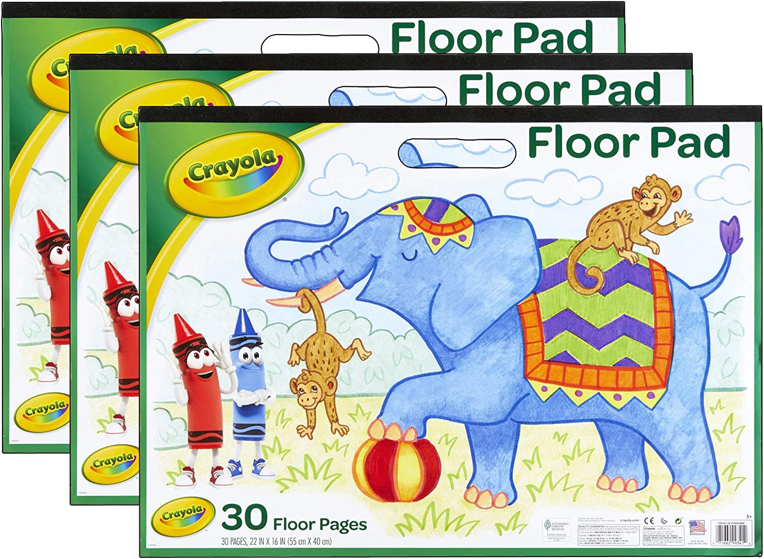 Crayola Giant Paper Pad, 30 Sheets, Pack of 3