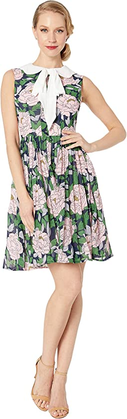 4f84510bbc6 Pink Floral White Bow. 11. Unique Vintage. 1960s Style Marin Flare Dress.   98.00. Black