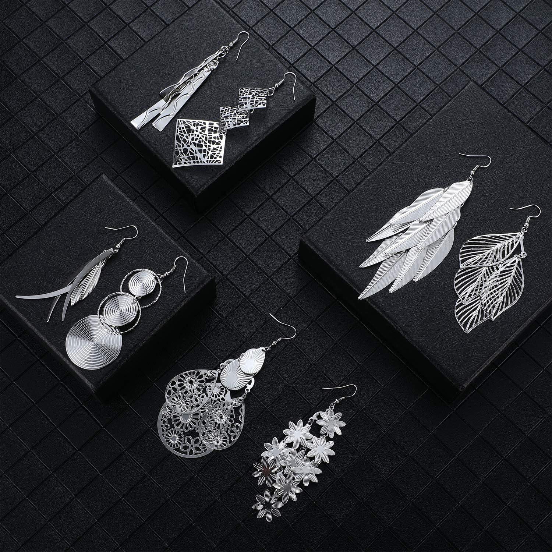 12 Pairs Drop Dangle Earrings Bohemian Long Fringed Drop Earrings Vintage Statement Earrings for Women Girls Favors