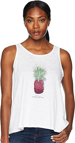 Life is Good Pineapple Love Breezy Tank Tee