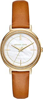 Women's Cynthia Brown Leather Watch MK2712