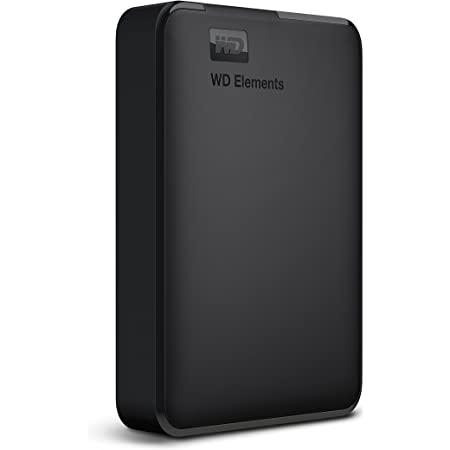 Western Digital WD 5TB Elements Portable External Hard Drive, USB 3.0, Compatible with PC, PS4 and Xbox (WDBHDW0050BBK-EESN)