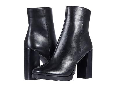 Steve Madden Main Bootie (Black Leather) Women